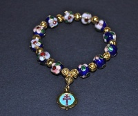 BRACELET CROISSINÉ CARAVACA CROSS  IN BLUE