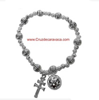 BRACELET CROSS CARAVACA AND CALLER ANGEL