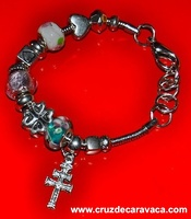 BRACELET DORA WITH CROSS OF CARAVACA