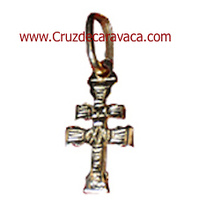 CARAVACA CROSS CARVED GOLD MOUNT DUPLEX