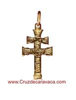 CARAVACA CROSS CARVED GOLD MOUNT DUPLEX