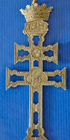 CARAVACA CROSS IN SILVER CROWN TOPS WITH RELIEF