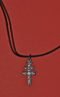 CARAVACA CROSS IN SILVER FINISH CAST PEQ