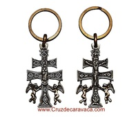 CARAVACA CROSS KEY ANGELES CASTING CON UN RILIEVO A DUE FACCE