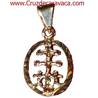 CARAVACA CROSS MEDAL IN GOLD WITH ANGELS