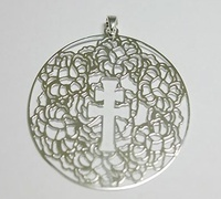 CARAVACA CROSS MEDAL IN SILVER MOUNT