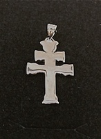 CARAVACA CROSS OF POLISHED SILVER MEDIUM