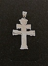CARAVACA CROSS OF POLISHED SILVER SMALL