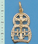 CARAVACA CROSS PENDANT C311 MAKE IN GOLD