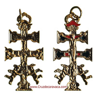 CARAVACA CROSS WITH ANGELS WITH HISTORY OF THE EMERGENCE OF THE CROSS
