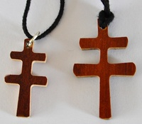CARAVACA CROSS WOOD HAND CUT LACE