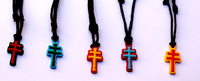 CARAVACA CROSSES IN COLOR FOR HANGING RUBBER - ASSORTED 5 COLORS-