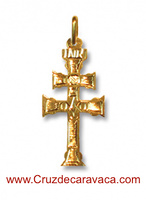 CARAVACA GOLD CROSS PENDANT 3248, TWO FACES