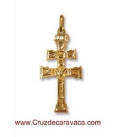 CARAVACA GOLD CROSS PENDANT
