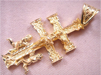 CARAVACA GOLD CROSS WITH ANGELS AND CHRIST