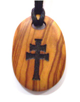 CARAVACA MEDAL CROSS OLIVE WOOD