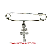 CARAVACA PIN CROSS BABY STERLING SILVER - no lost -