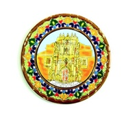 CASTLE OF CARAVACA  IN CERAMIC PLATE DRY ROPE 29 CM