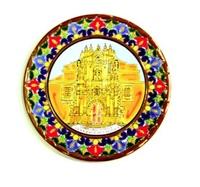 CERAMIC PLATE CRUZ BASILICA OF CARAVACA A DRY ROPE 37 CMS