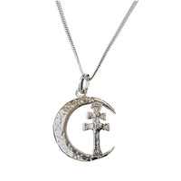 CHAIN ​​SILVER CROSS CARAVACA SILVER CRESCENT