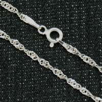 CHAIN STERLING SILVER RHODIUM PLATED RHODIUM 45 Y 50 CMS SING