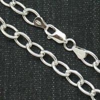 CHAIN STERLING SILVER WITH RHODIUM 45, 50 AND 60 CMS MODEL LINK