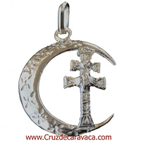 CRESCENT PENDANT LARGE CROSS ref3236 CARAVACA