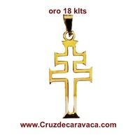 CROCE DI CARAVACA IN ORO 18 CARATI
