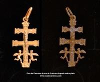 CROCE DI CARAVACA ORO PLATE ARGENTO OPCR3