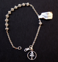 CROSS BRACELET SILVER FILIGREE CARAVACA