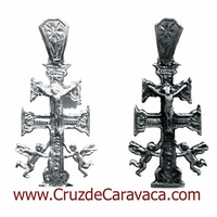 CROSS CARAVACA MADE IN SILVER 1017