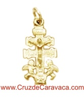 CROSS  CARAVACA WITH CHRIST  ANGELES TWO SIDES