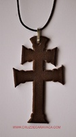 CROSS DE CARAVACA LEATHER LARGE TO HANG
