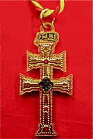 CROSS OF CARAVACA ENAMEL 7 MM