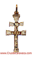 CROSS OF CARAVACA FOR PENDANT MAKE IN GOLD  R.3250