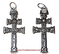 CROSS OF CARAVACA FOUNDRY  IN SILVER FINISH