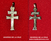 CROSS OF CARAVACA MADE IN GOLD  CARVED A  TWO FACES