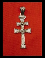 CROSS OF CARAVACA MADE IN GOLD ON SILVER OP-1