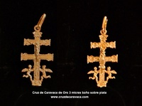 CROSS OF CARAVACA MADE IN GOLD ON SILVER  OPCR2