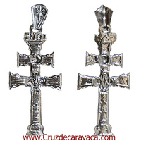 CROSS OF CARAVACA MADE IN SILVER 1023