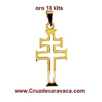CROSS OF CARAVACA MAKE IN GOLD 18 CARAT