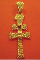 CROSS OF CARAVACA MAKE IN GOLD 3143