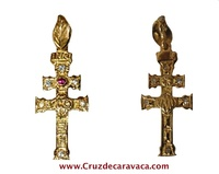 CROSS OF CARAVACA MAKE IN GOLD