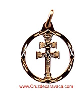 CROSS OF CARAVACA PENDANT GOLD
