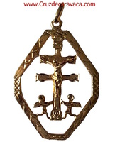 CROSS OF CARAVACA PENDANT MADE IN GOLD