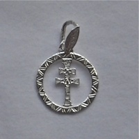 CROSS OF CARAVACA SILVER MEDAL
