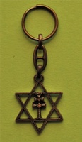 CROSS OF CARAVACA TURNKEYS AND STAR OF KING DAVID