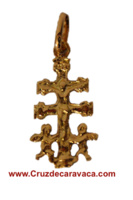 CROSS OF CARAVACA WITH ANGELES MADE IN GOLD