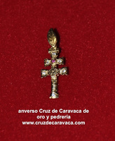 CROSS OF GOLD AND STONE CARAVACA (Zircon)