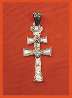 CROSS OF GOLD CARVED TO RELIEVE CARAVACA